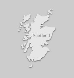 Map scotland vector