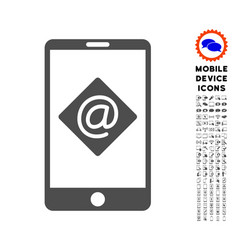 Mobile email icon with set vector