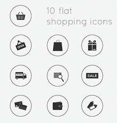 Modern flat icons collection of shopping theme vector image