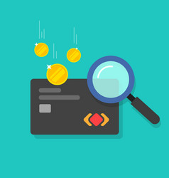 Money fraud verification icon flat cartoon vector
