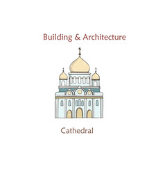 moscow cathedral christ saviour vector image