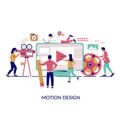 Motion graphic studio flat style design vector