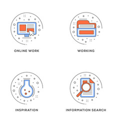 online work working inspiration information vector image