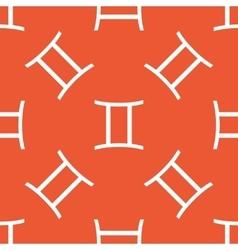 Orange Gemini pattern vector