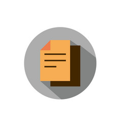 paper document business strategy icon block shadow vector image