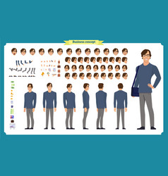 People character business set vector