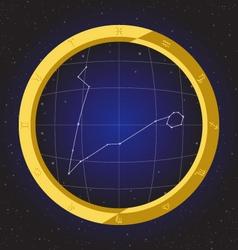 pisces star horoscope zodiac in fish eye vector image