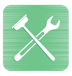 Plumbing work symbol icon vector
