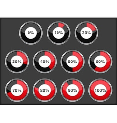 Progress Indicators vector image
