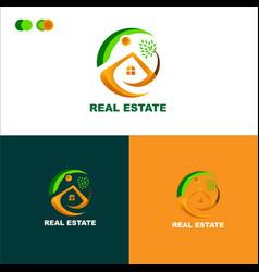 Real-estate-logo-template-design-samples vector