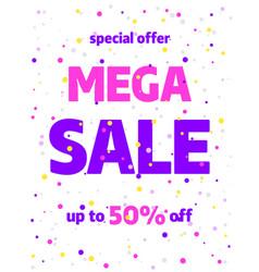 sale banner template design special offer vector image
