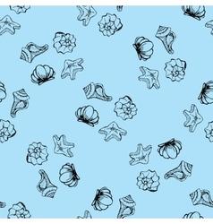 Sea shell seamless pattern vector
