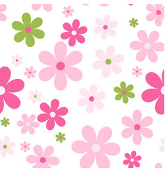seamless cute floral pattern background vector image