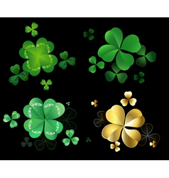 Set of clover vector image