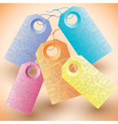 Set of the colorful tags vector image