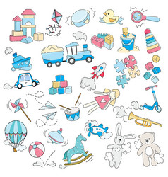 Set toys for children for vector