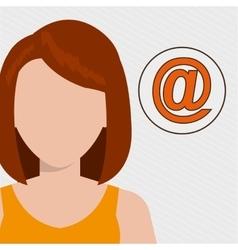 silhouette web internet app vector image