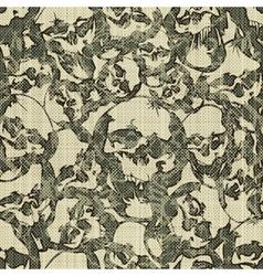 Skulls pattern vector