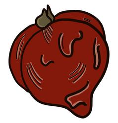 Small rotten tomato on white background vector