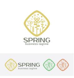 spring logo design vector image