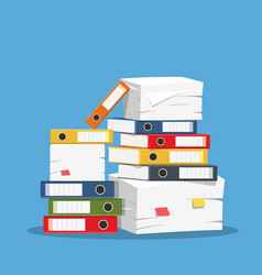 Stack of papers vector