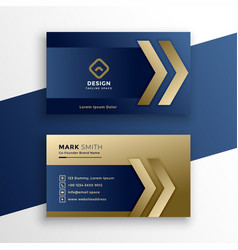 Stylish premium gold business card design vector