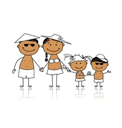 Summer holidays Happy family for your design vector image