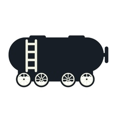 tank wagon train vector image