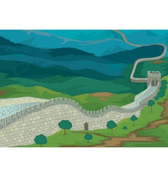 The Great Wall of China vector