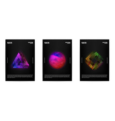 thee abstract posters vector image