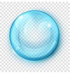 transparent light blue sphere vector image