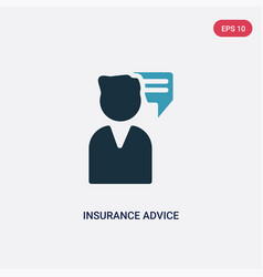 Two color insurance advice icon from insurance vector