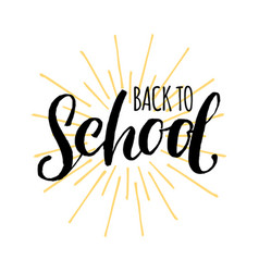 vintage back to school logo children vector image