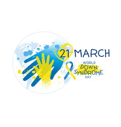 World down syndrome day design vector