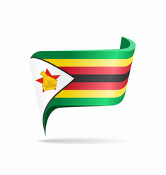 zimbabwean flag map pointer layout vector image