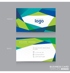 Abstract modern Blue Green Business card Design vector image vector image