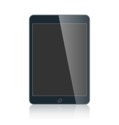 Black business tablet isolated on white background vector image