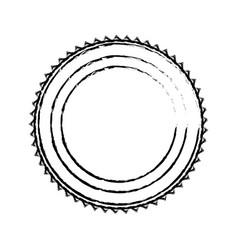 emblem stamp sticker blank design vector image