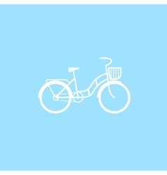 Female bicycle with a basket vector image