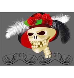 retro skull vector image