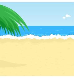 seaside beach vector image vector image
