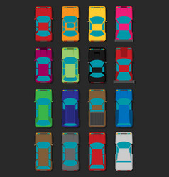 set of cars flat vector image vector image
