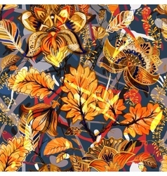 Bright seamless pattern Floral backdrop vector image
