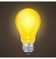 Light bulb Graphics style vector image