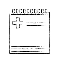 notepad and pencil icon image vector image vector image