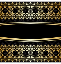Ornamental background with golden decorations vector