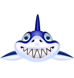 Shark head cartoon vector image vector image