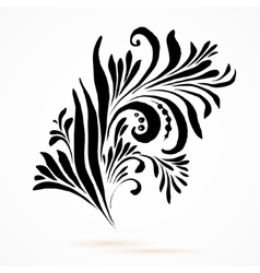 Black and white hohloma vector image