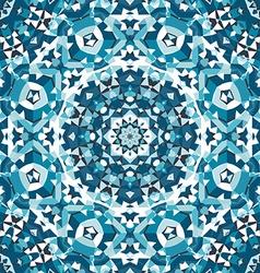 blue crystal kaleidoscope pattern vector image vector image