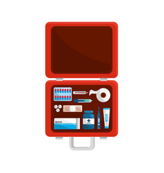 color first aid kit icon vector image vector image